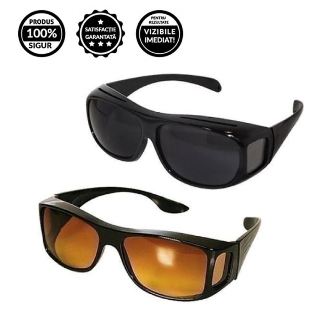 Set 2 perechi de ochelari HD de condus zi si noapte