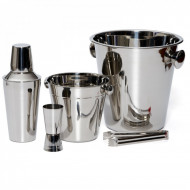Set 5 piese frapiere si cocktail shaker din inox