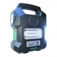 Kit de incarcare solara, USB, 4 becuri incluse, Radio FM, Mp3 Player, GD-1000A