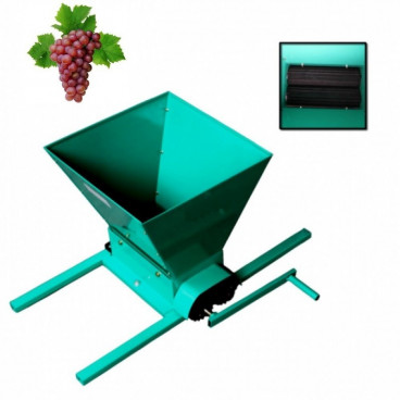 Zdrobitor manual pentru struguri cu cadru verde