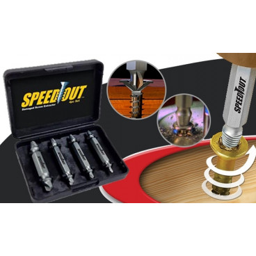 Set 4 extractoare pentru suruburi Speed Out