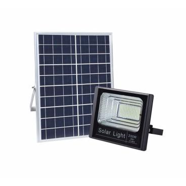 Panou solar cu proiector 200W, cu telecomanda
