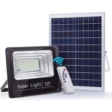 Panou solar cu proiector 300W, cu telecomanda