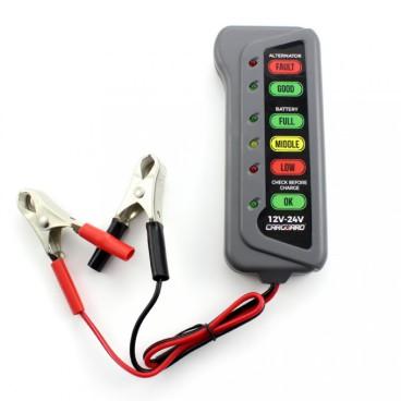 Tester pentru alternator si baterie cu indicator LED, 12V-24V